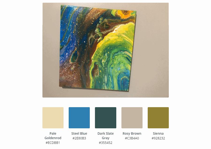 Acrylic Paint Color Art Palattes