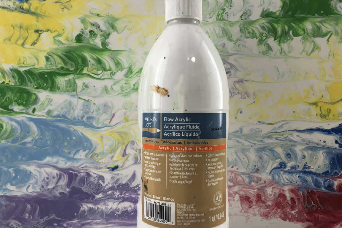 Artists Loft Flow Acrylic Paint Used for Pouring